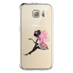 Coque transparente Samsung Galaxy S8 Plus + magique fee fleurie