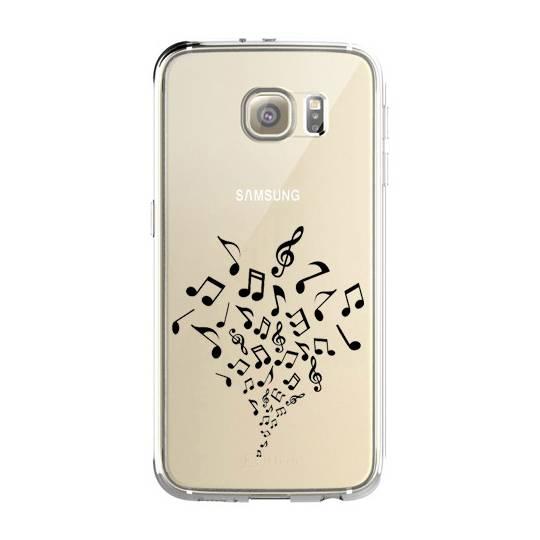 Coque transparente Samsung Galaxy S8 Plus + note musique