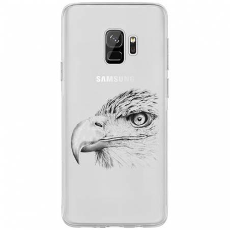 Coque transparente Samsung Galaxy S9 aigle