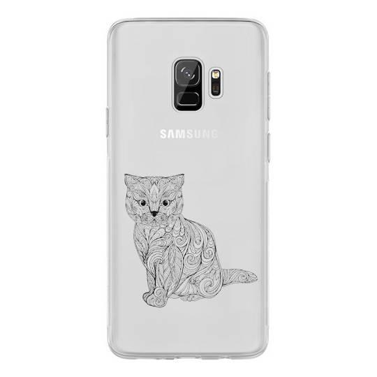 Coque transparente Samsung Galaxy S9 chat
