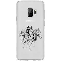 Coque transparente Samsung Galaxy S9 chevaux