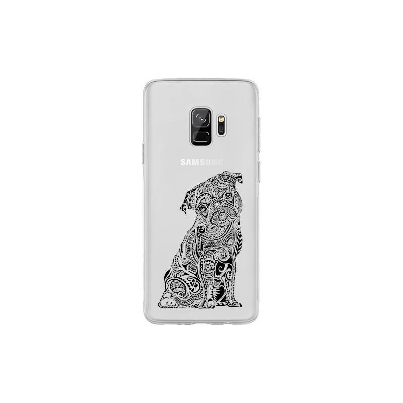 Coque transparente Samsung Galaxy S9 chien