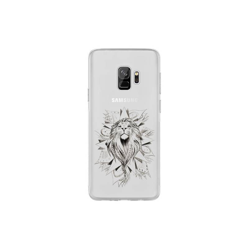 Coque transparente Samsung Galaxy S9 lion