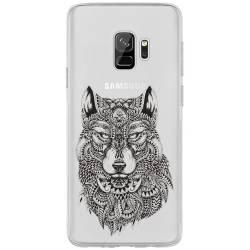 Coque transparente Samsung Galaxy S9 loup