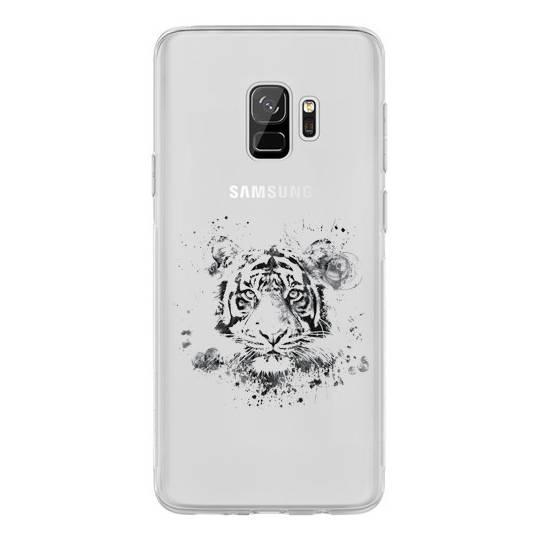 Coque transparente Samsung Galaxy S9 tigre