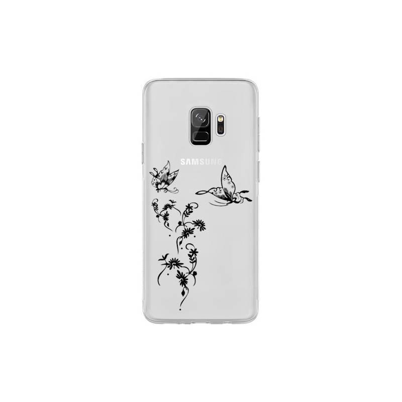 Coque transparente Samsung Galaxy S9 feminine envol fleur