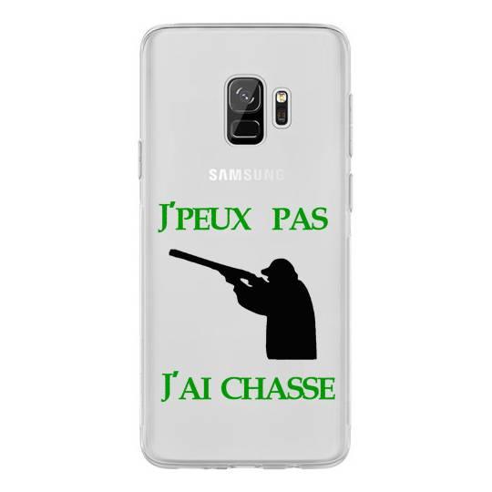 Coque transparente Samsung Galaxy S9 jpeux pas jai chasse
