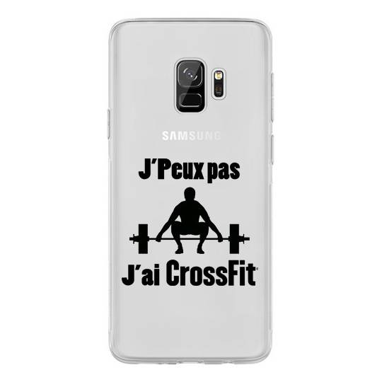 Coque transparente Samsung Galaxy S9 jpeux pas jai crossfit