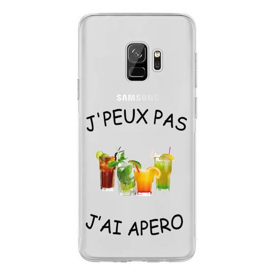 Coque transparente Samsung Galaxy S9 jpeux pas jai apero