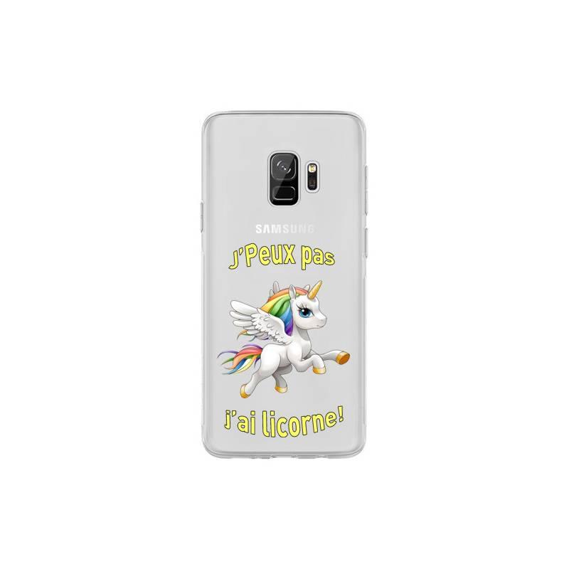 Coque transparente Samsung Galaxy S9 jpeux pas jai licorne