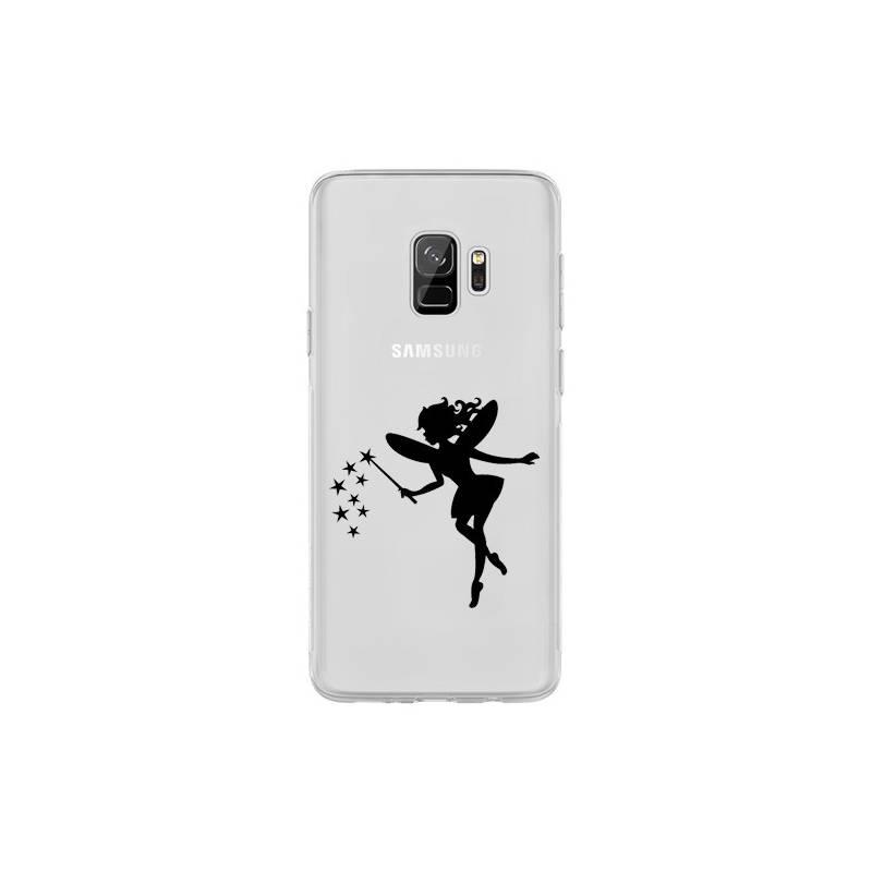 Coque transparente Samsung Galaxy S9 magique fee noir