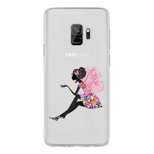 Coque transparente Samsung Galaxy S9 magique fee fleurie