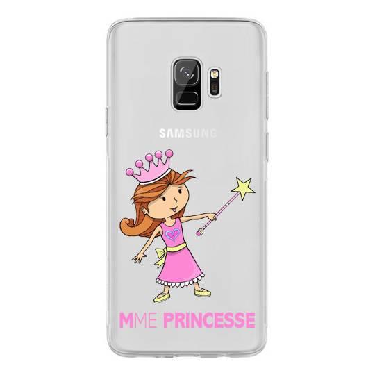Coque transparente Samsung Galaxy S9 magique mme princesse
