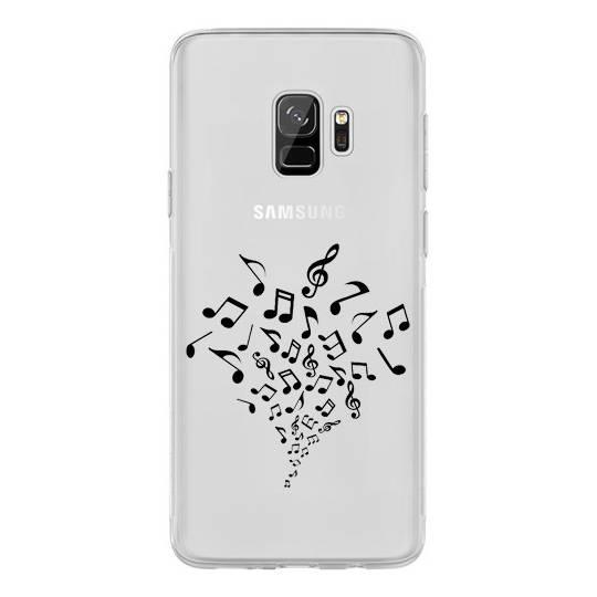 Coque transparente Samsung Galaxy S9 note musique