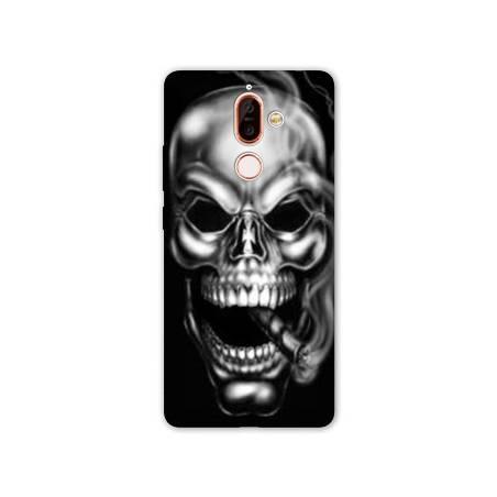 Coque Nokia 7 Plus tete de mort