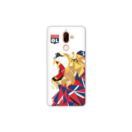 Coque Nokia 7 Plus License Olympique Lyonnais OL - lion color