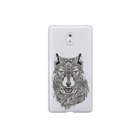 Coque transparente Nokia 2 loup