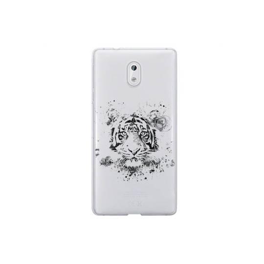 Coque transparente Nokia 2 tigre