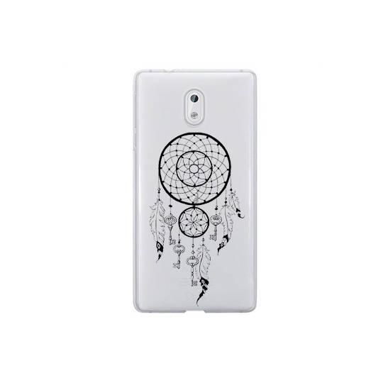 Coque transparente Nokia 2 feminine attrape reve cle