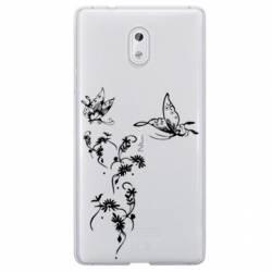 Coque transparente Nokia 2 feminine envol fleur