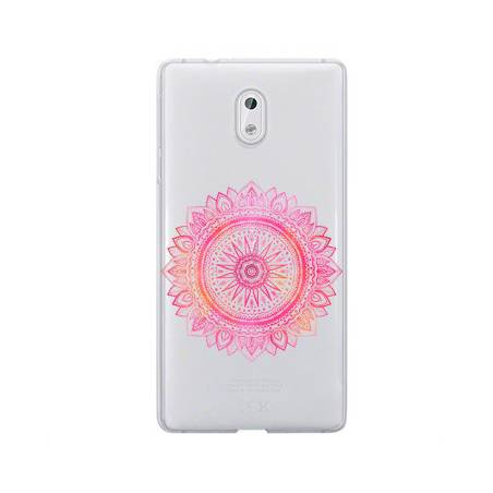 Coque transparente Nokia 2 mandala rose