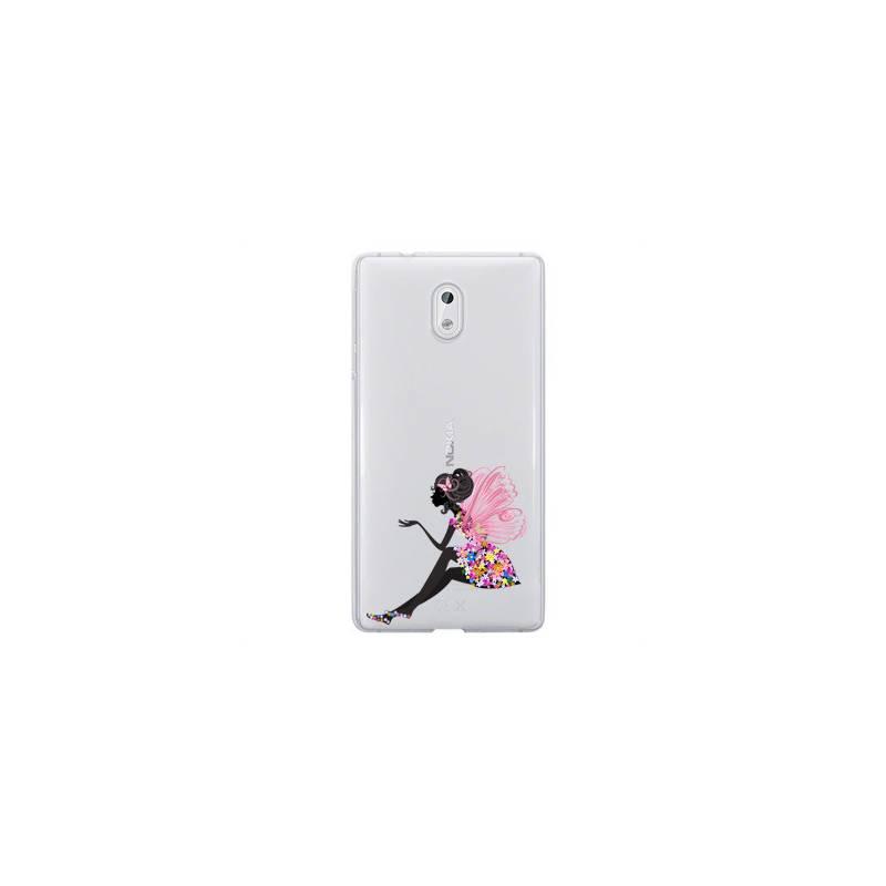Coque transparente Nokia 2 magique fee fleurie