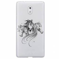Coque transparente Nokia 3 chevaux