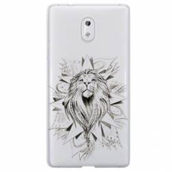 Coque transparente Nokia 3 lion