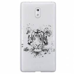 Coque transparente Nokia 3 tigre