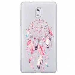 Coque transparente Nokia 3 feminine attrape reve rose