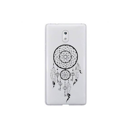 Coque transparente Nokia 3 feminine attrape reve cle
