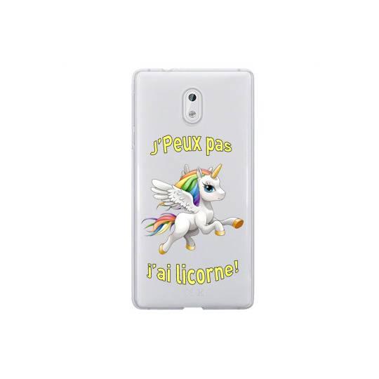 Coque transparente Nokia 3 jpeux pas jai licorne