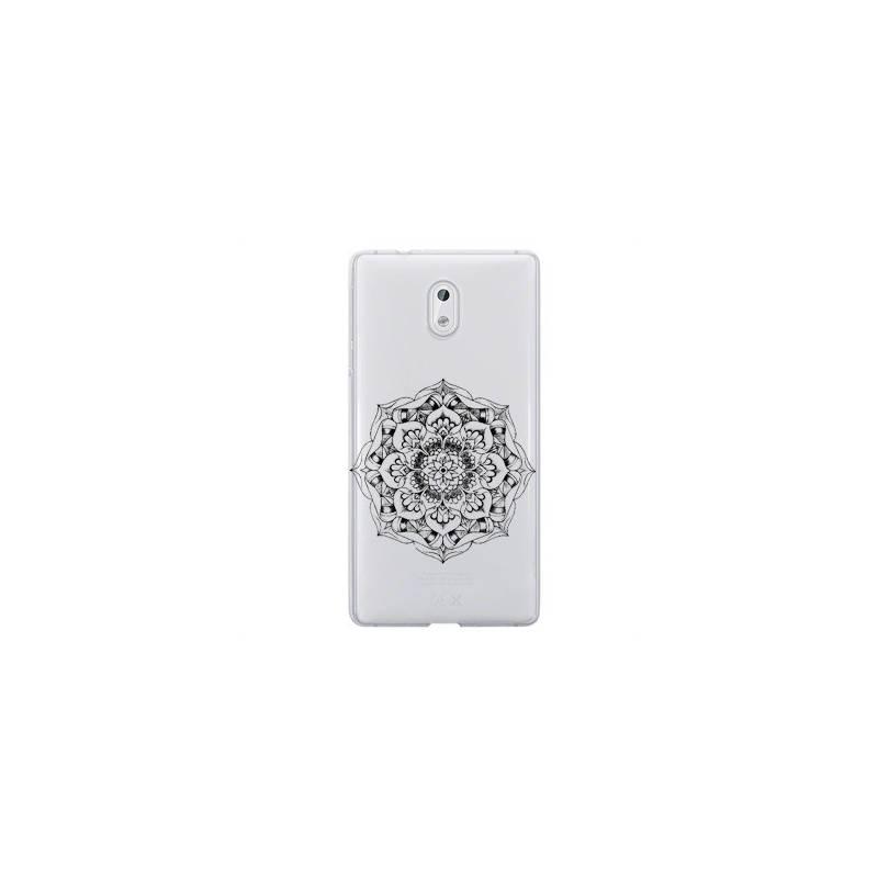 Coque transparente Nokia 3 mandala noir
