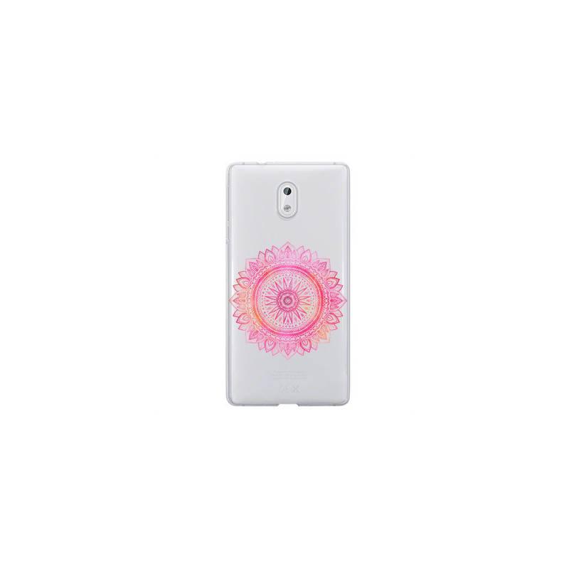 Coque transparente Nokia 3 mandala rose