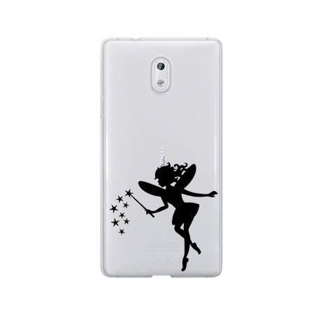 Coque transparente Nokia 3 magique fee noir