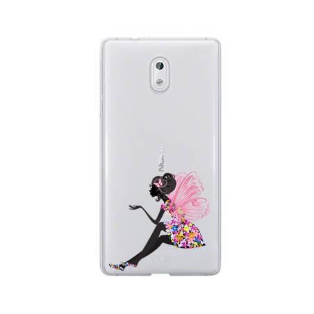 Coque transparente Nokia 3 magique fee fleurie