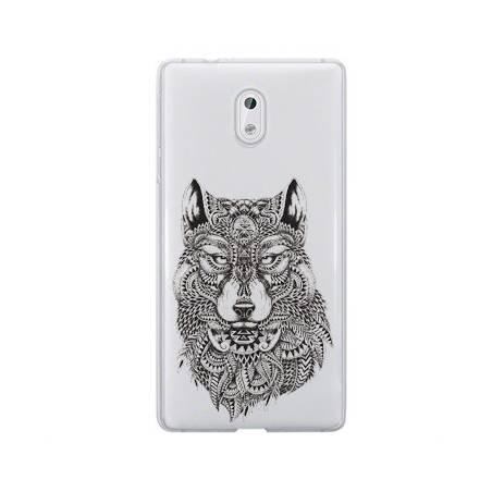 Coque transparente Nokia 6 loup