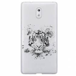Coque transparente Nokia 6 tigre