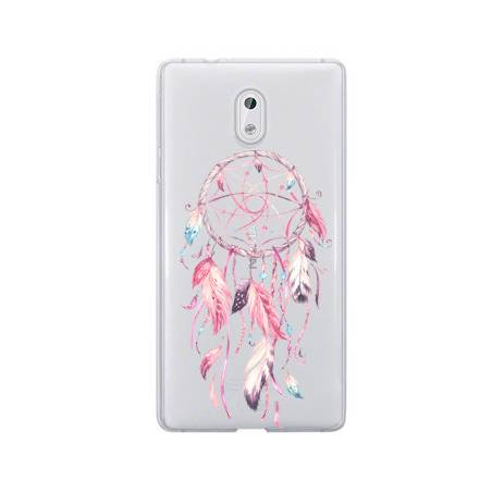 Coque transparente Nokia 6 feminine attrape reve rose