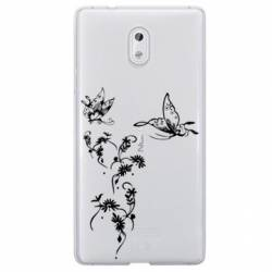 Coque transparente Nokia 6 feminine envol fleur