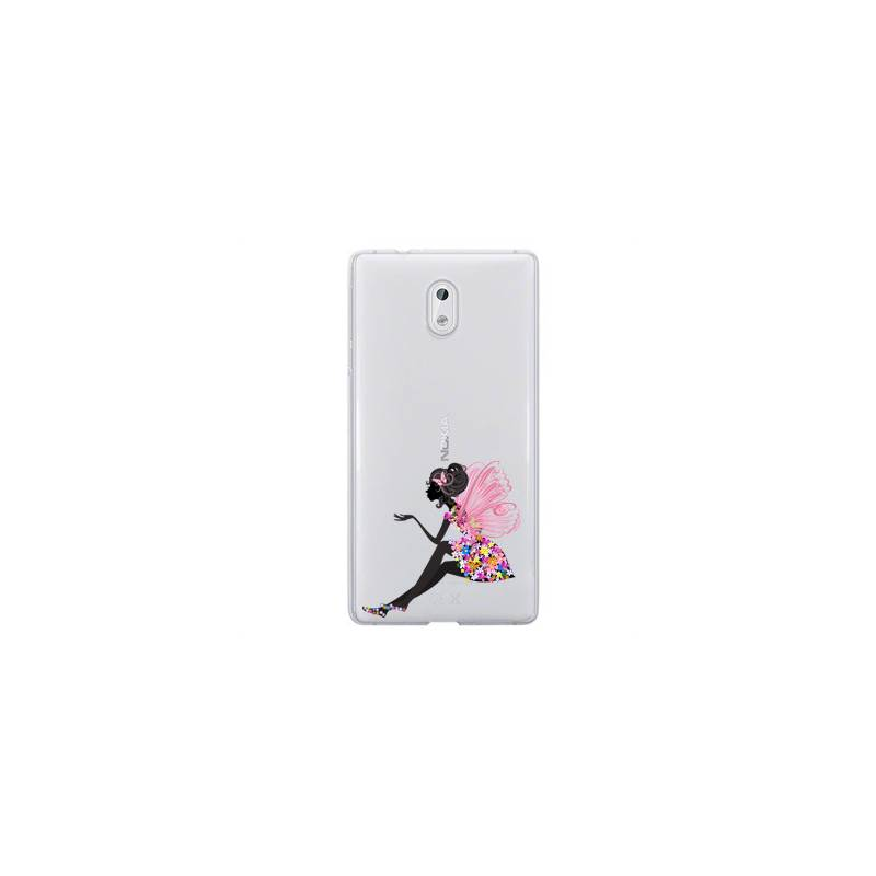 Coque transparente Nokia 6 magique fee fleurie