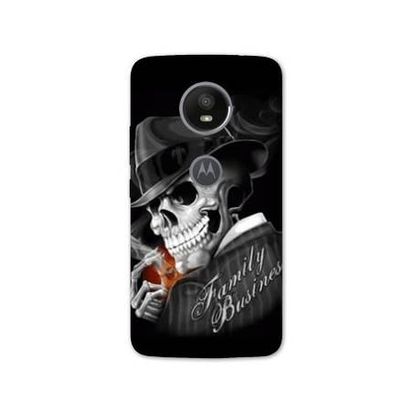 Coque Motorola Moto E5 PLUS tete de mort