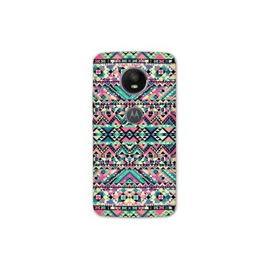 Coque pour Motorola Moto E5 PLUS motifs Aztec azteque