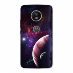 Coque Motorola Moto E5 PLUS Espace Univers Galaxie