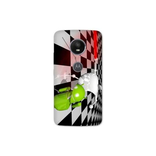 Coque Motorola Moto E5 PLUS apple vs android