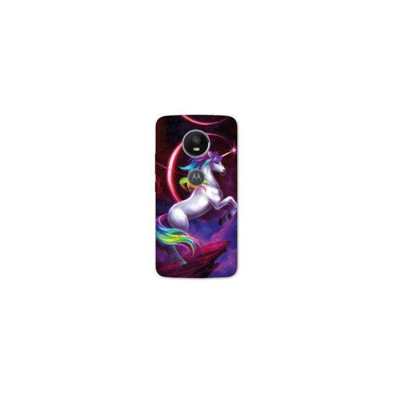 Coque Motorola Moto E5 PLUS Licorne
