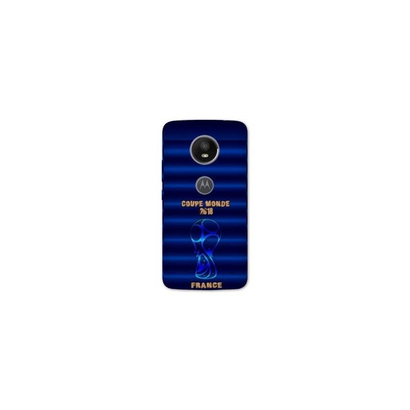 Coque Motorola Moto E5 PLUS coupe monde football 2018