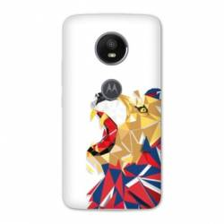 Coque Motorola Moto E5 PLUS License Olympique Lyonnais OL - lion color