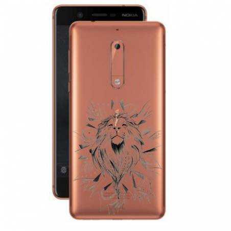 Coque transparente Nokia 5 lion