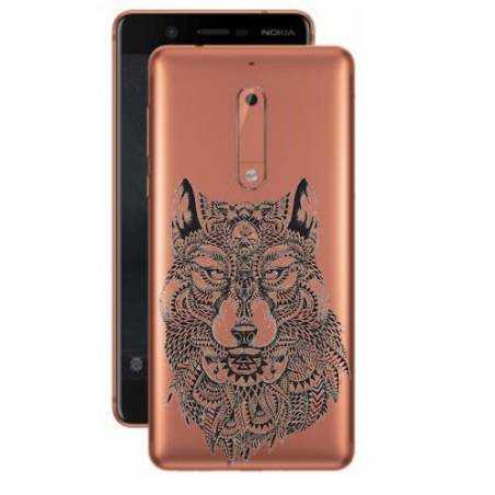 Coque transparente Nokia 5 loup